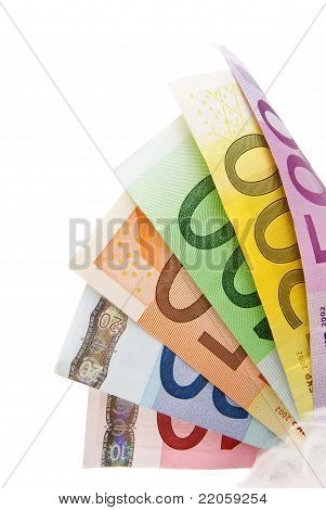 Fanned Euro Bills