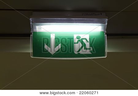 Green fire exit