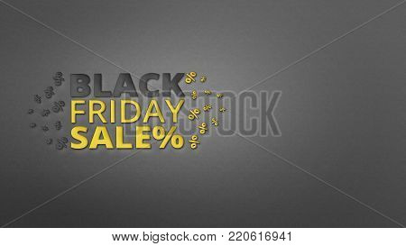 Black Friday sale and discount inscription design template on paper background. banner for shops, web.
