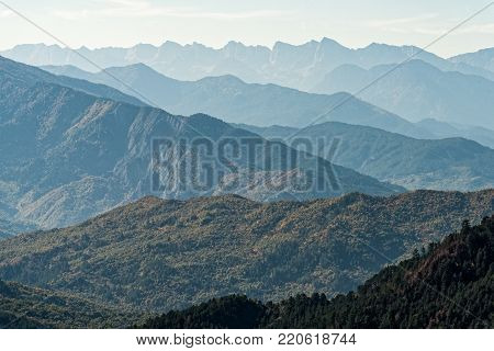 Ridges of Pindus range in Epirus, Greece