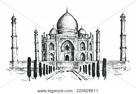Taj Mahal Ancient Vector & Photo (Free Trial) | Bigstock