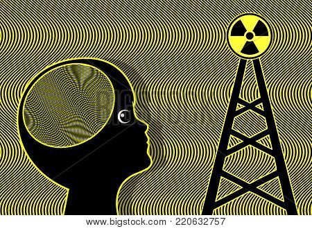 Child exposed to Radiation.. Electromagnetic waves of cellular phone towers affect the brain of kids and teens