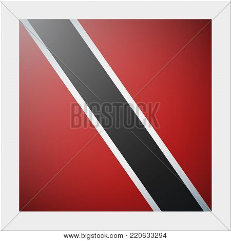 South America continent flag collection with photo of Trinidad and Tobago flag , vector , illustration