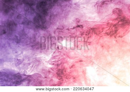 abstract color powder explosion on  white background.Freeze motion of color powder splash.
