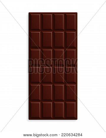 Dark bitter chocolate seamless pattern. Milk chocolate squares background. Sweet dessert wallpaper. Graphic design element for web, packaging, poster, flyer, dessert advertisement. Vector illustration