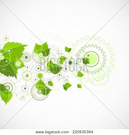 Eco Manufacture Abstract Technology Background.