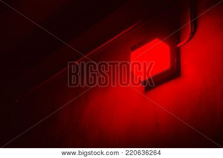Red light in Photo processing Darkroom for protect light sensitive materials