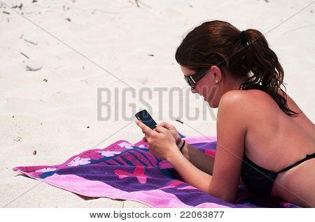 Beach texting
