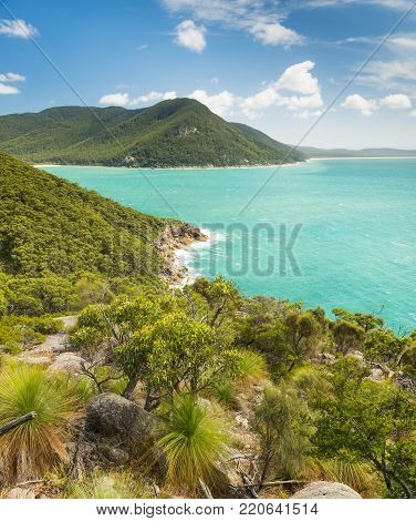 Landscape view of trail between refuge cove and sealers cove in Wilsons Promontory National Park, Victoria, Australia