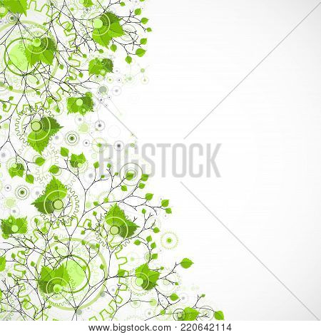 Eco manufacture abstract technology background. Vector illustration