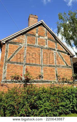 Stratford-upon-Avon, Warwickshire, England - August 18, 2014 : William Shakespeare's Birthplace in Stratford-upon-Avon