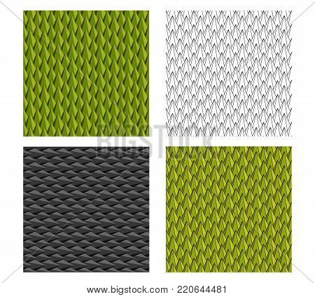 Seamless Durian and animal scale pattern for texture, vector design