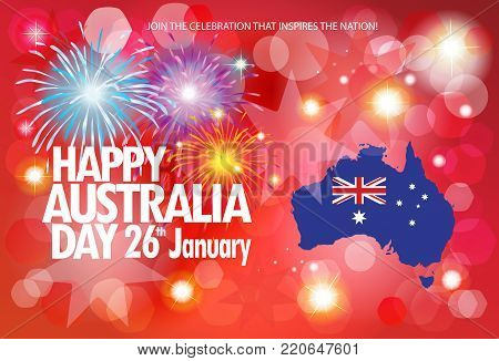 Happy australia day 26th january vector photo bigstock happy australia day 26th of january celebration poster invitation greeting cards gifts m4hsunfo