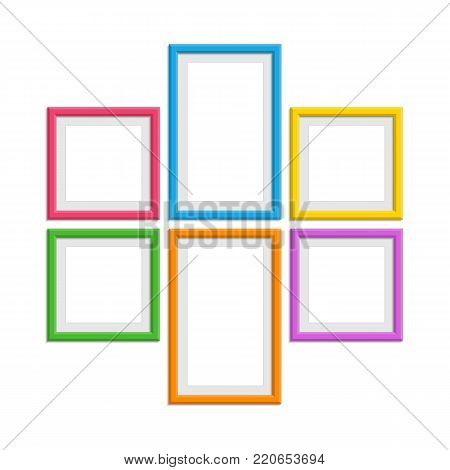 set colorful wooden vector photo free trial bigstock