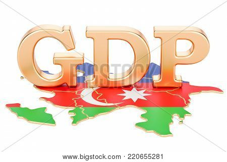 gross domestic product GDP of Azerbaijan concept, 3D rendering isolated on white background