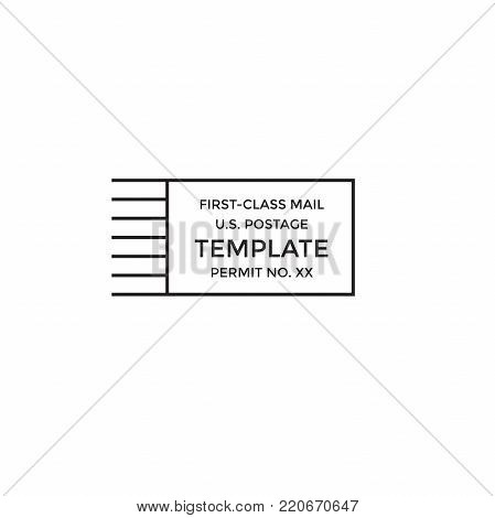 Postal Cancellation First Class Mail Postage Paid Mark