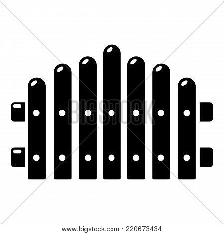 Palisade icon. Simple illustration of palisade vector icon for web