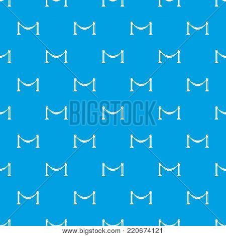 Barrier pattern repeat seamless in blue color for any design. Vector geometric illustration