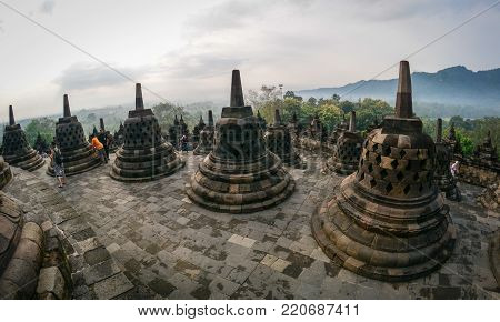 Borobudur Temple In Java Island, Indonesia