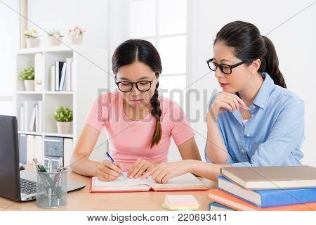 Female College Student Preparing School Exam