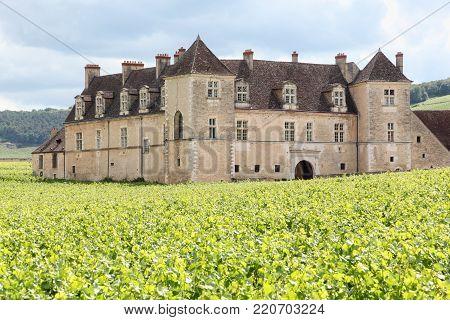 Castle of Clos de Vougeot in Burgundy, France