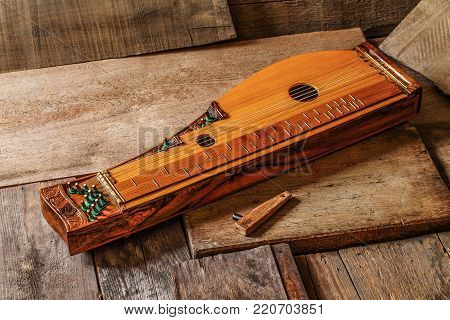 Zither - traditional musical instruments. Classical music.