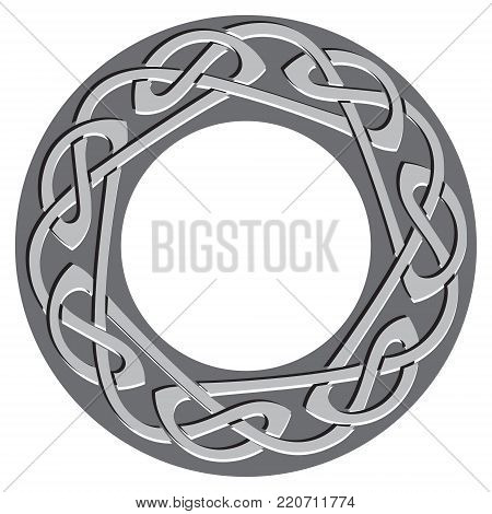 Celtic pattern, celtic knot, isolated on black, vector illustration