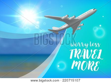 Special offer on business Travel. Business trip banner. Air travel concept. Business travel vector illustration.