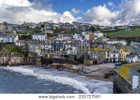 Port Issac in north Cornwall in south west England