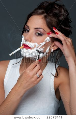 Attractive Lady Shave