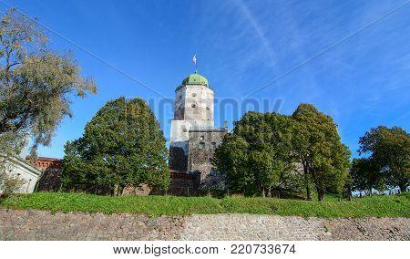 Tower Of Saint Olav In Vyborg, Russia