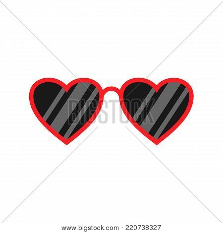 Heart glasses isolated on white background. Fashion glasses. Vector stock.