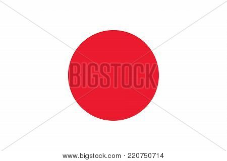 Flag of Japan oficial colors and proportions