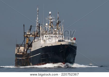 F/T Alaska Spirit transitting Shilshole Bay on the way to Seattle.