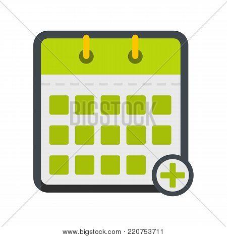 Calendar deadline icon. Flat illustration of calendar deadline vector icon isolated on white background