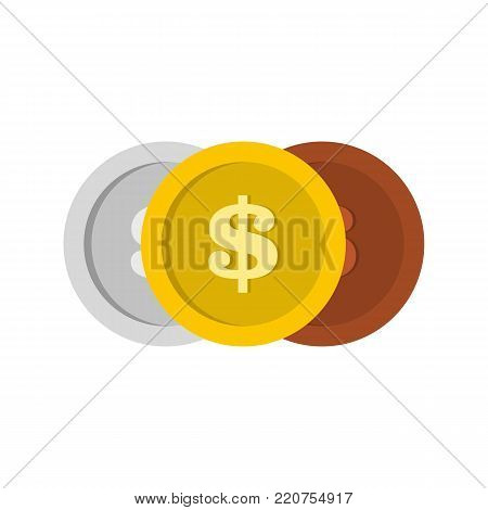 Making coin icon. Flat illustration of making coin vector icon isolated on white background