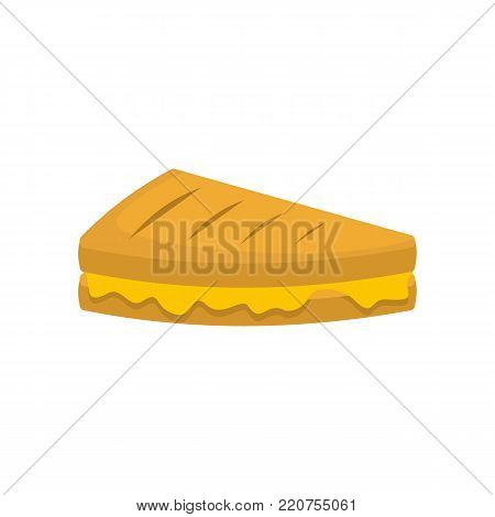 Sandwich icon. Flat illustration of sandwich vector icon isolated on white background