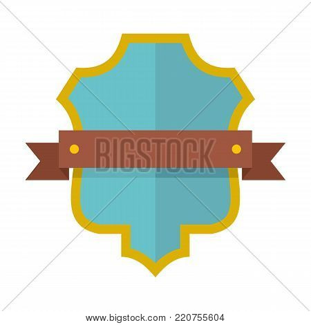 Badge guardian icon. Flat illustration of badge guardian vector icon isolated on white background