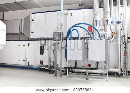 central heating and cooling air handling system control