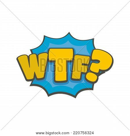 Comic boom wtf icon. Flat illustration of comic boom wtf vector icon isolated on white background