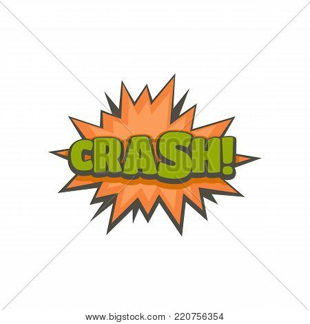 Comic boom crash icon. Flat illustration of comic boom crash vector icon isolated on white background
