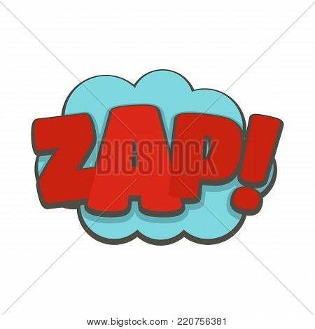 Comic boom zap icon. Flat illustration of comic boom zap vector icon isolated on white background