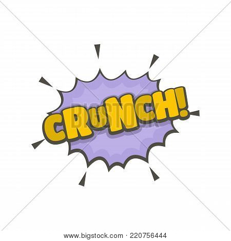 Comic boom crunch icon. Flat illustration of comic boom crunch vector icon isolated on white background