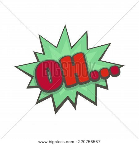 Comic boom oh icon. Flat illustration of comic boom oh vector icon isolated on white background