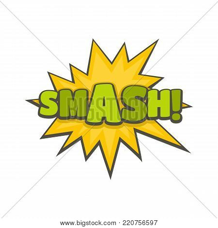 Comic boom smash icon. Flat illustration of comic boom smash vector icon isolated on white background