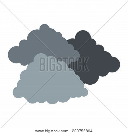 Dark cloudy icon. Flat illustration of dark cloudy vector icon isolated on white background