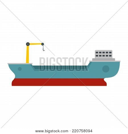 Ship freight icon. Flat illustration of ship freight vector icon isolated on white background