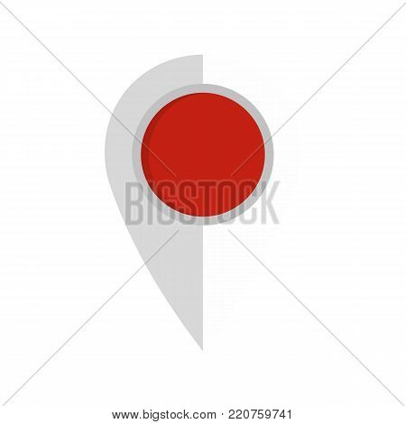 Map pin icon. Flat illustration of map pin vector icon isolated on white background
