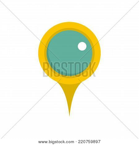 Locate pin icon. Flat illustration of locate pin vector icon isolated on white background