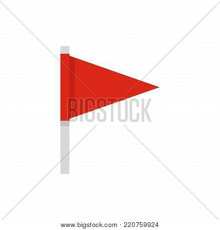Destination flag icon. Flat illustration of destination flag vector icon isolated on white background